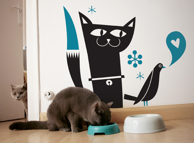 Hommu originales vinilos para tu casa blog totpint - Vinilos decorativos gatos ...