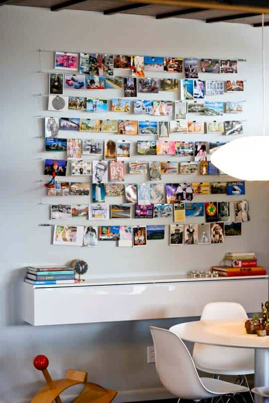 Un mural de fotos para decorar la oficina en casa 1