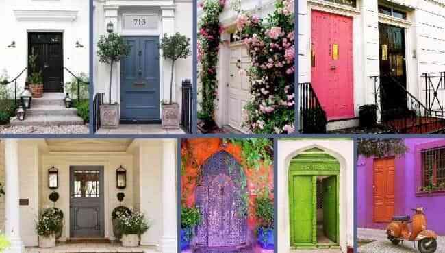 pintar puertas en colores