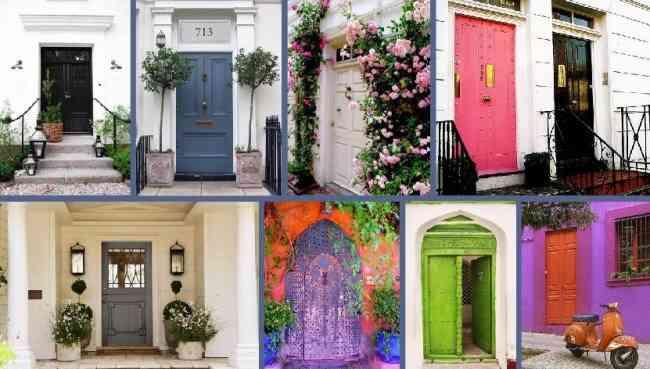 Pinturas neoval las puertas de entrada for Pintar puertas