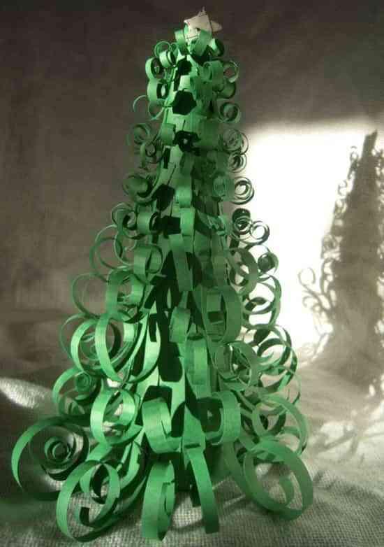 DIY: árbol de Navidad de papel 1