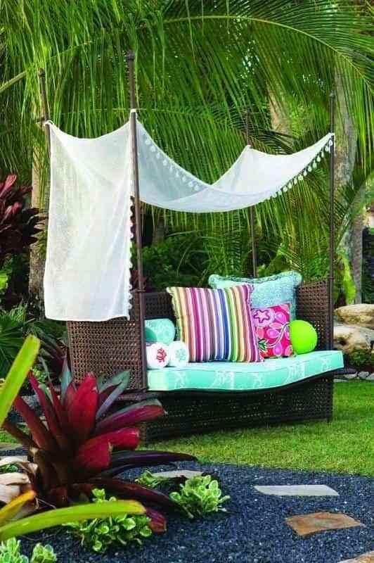 Sofá de jardín para el verano