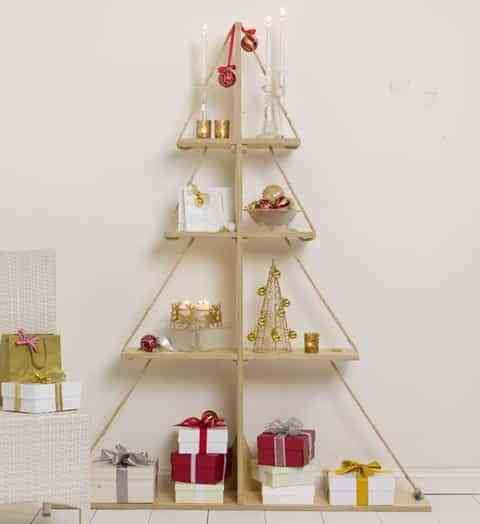 Árbol de Navidad: estanterías DIY 1