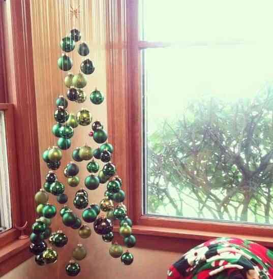 Rbol de navidad colgante decoraci n de interiores for Colgantes para arbol de navidad