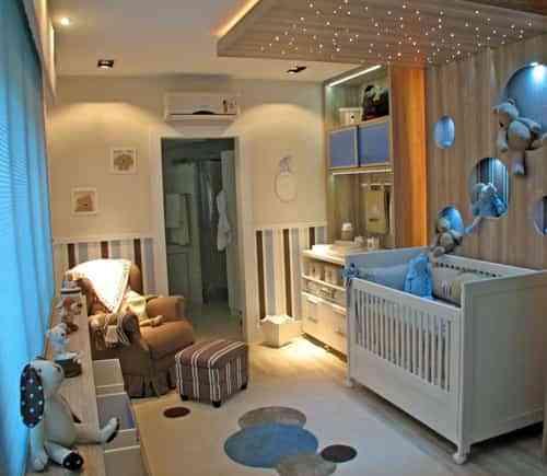 decoracion del cuarto del bebe en beige