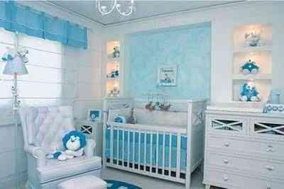 decoracion infantil celeste y azul