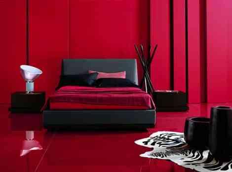 decoracion dormitorios en rojo
