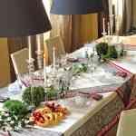 Decoración navideña de la mesa fotos 1