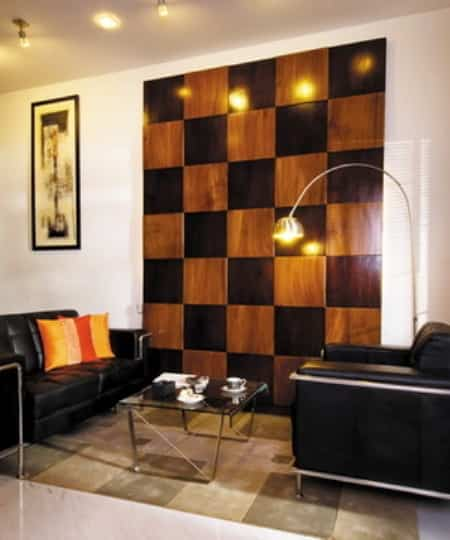 decorar pared con panel