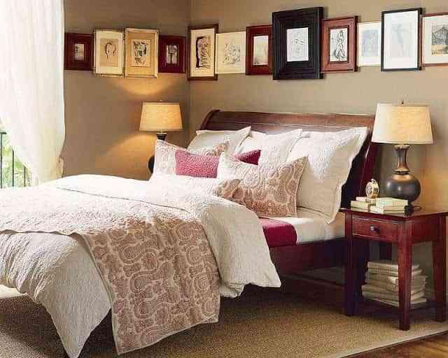 decorar pared dormitorio con cuadros