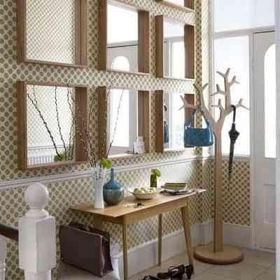 Decorar Paredes Con Espejos Cuadrados Decoracion De Interiores - Decorar-una-pared