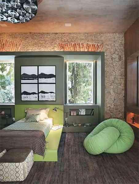 dormitorio rustico contemporaneo