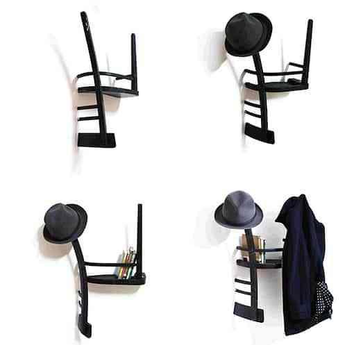 Recicla una vieja silla y conviértela en un perchero