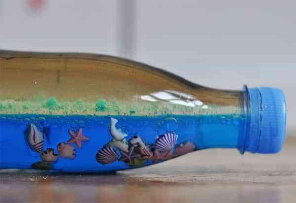 Bricolaje de botella de mar