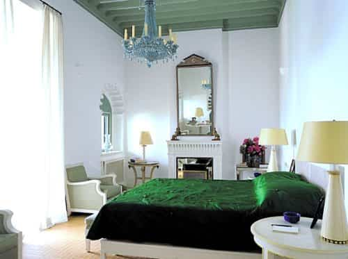decorar dormitorio en verde