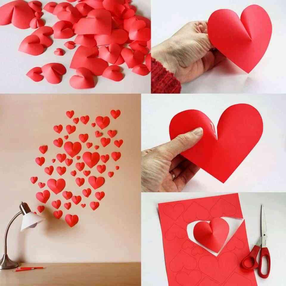 Decoracion Para San Valentin Corazones En Relieve - Decorar-para-san-valentin
