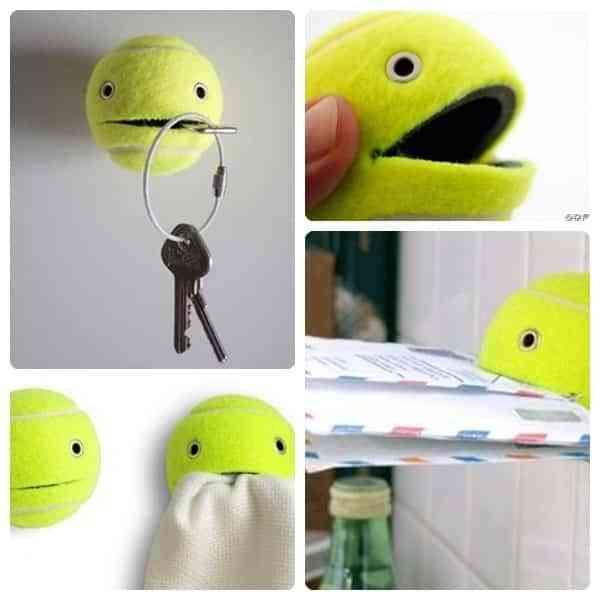 Una pelota de tenis para la decoración infantil
