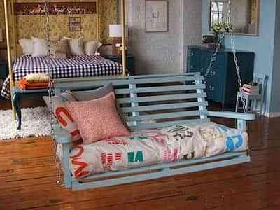 decorar dormitorio con un columpio