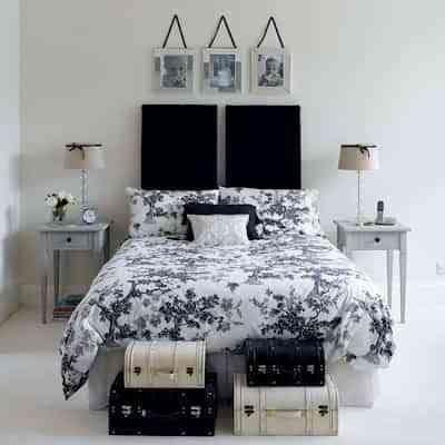Decoración de dormitorios blanco y negro - Decoración de Interiores ...