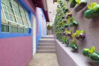 jardin reciclado