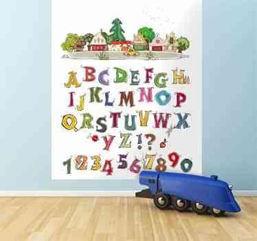 vinilo infantil letras y numeros
