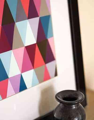 Realiza tu propio cuadro en estilo geometrico