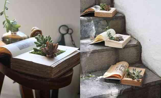 Realiza una maceta con un libro viejo