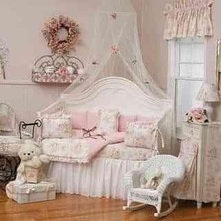 Decoración de un dormitorio infantil shabby chic