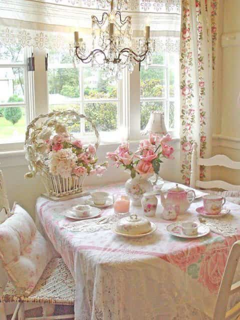 Decorar un comedor shabby chic decoraci n de interiores for Cortinas vintage salon