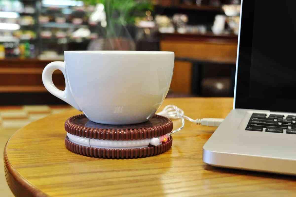 Calentador de tazas con conección USB