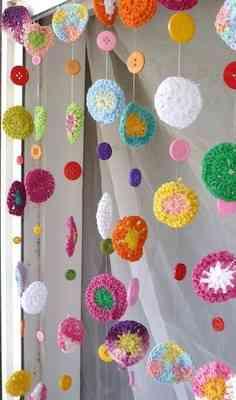 Decorar habitaciones con cortinas de crochet