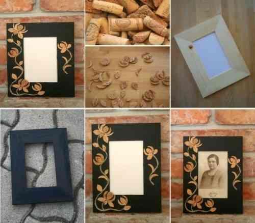 DIY marco con ornamentos de corcho - Decoración de Interiores