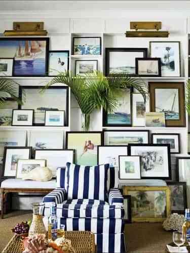Decorar paredes con cuadros fascinante Decoracin de