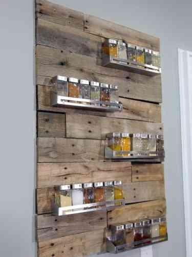 Diy especiero con palets decoraci n de interiores opendeco - Comprar muebles con palets ...