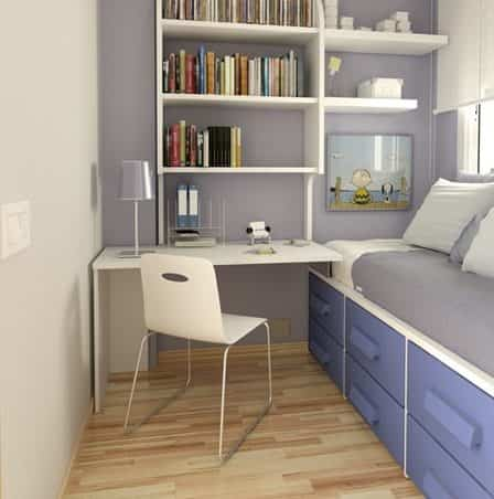 15 ideas para decorar habitaciones juveniles peque as for Dormitorio 6m2