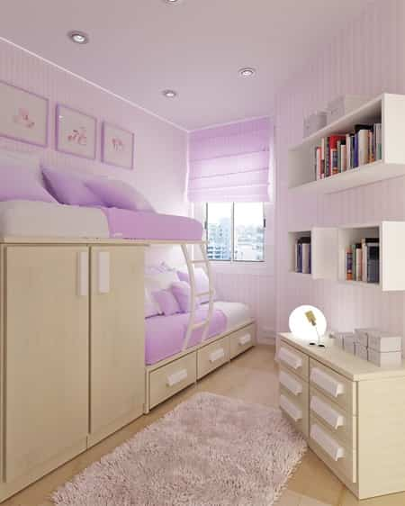Bedroom Teenage Small Girls Room Purple Large Size: 15 Ideas Para Decorar Habitaciones Juveniles Pequeñas