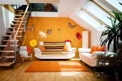 Pegatinas para decorar el sal n decoraci n de interiores for Decoracion alternativa interiores