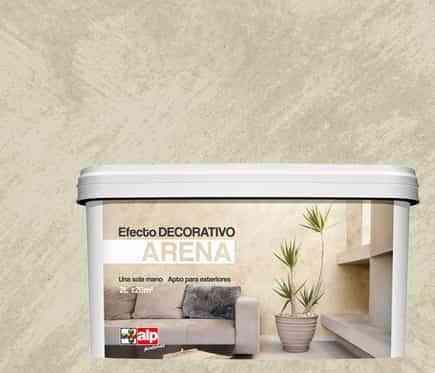 Pintar paredes con pintura decorativa efecto de arena for Pintura color arena paredes