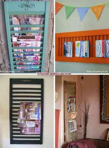 Revisteros de madera reciclados - Decoración de Interiores   OpenDeco