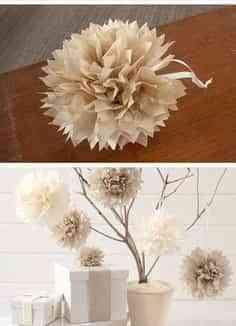 arbol de papel para la mesa