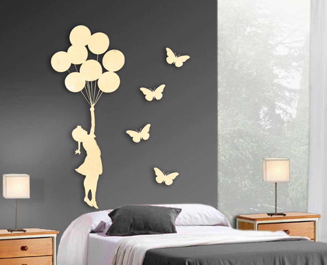 Figuras para paredes amazing decoracin de pared cobre for Adornos pared metal