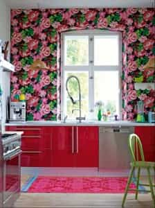 decoracion cocina floral