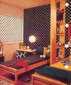 Decorar una habitación con diseño de lunares