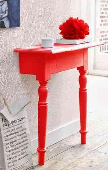 mesa para decorar la pared