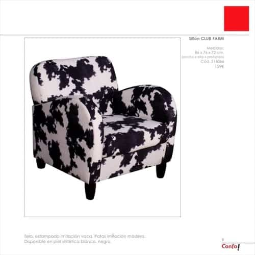 sillon estampado de conforama