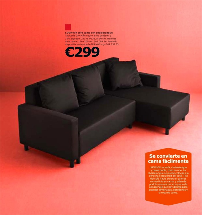Sof cama ikea en oferta decoraci n de interiores opendeco for Sofa cama catalogo