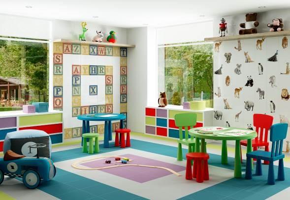Divertida habitacin de juegos para nios Decoracin de Interiores