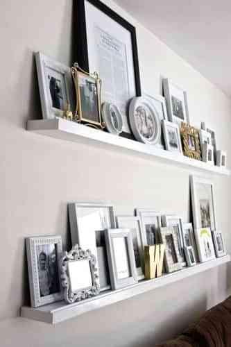 Decorar paredes con repisas y cuadros blog totpint - Lo ultimo en decoracion de paredes ...