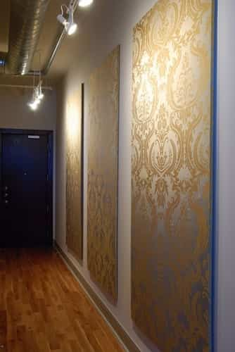 Decorar paredes con paneles con tela decoraci n de for Paneles acrilicos para paredes