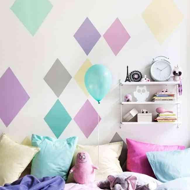 Decorar paredes con rombos decoraci n de interiores opendeco - Decoracion de paredes con pintura ...